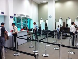 Posto de visto para os EUA no Rio (Foto: Rodrigo Vianna / G1)